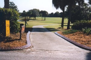 EuroStyle used as a cart path boundary.