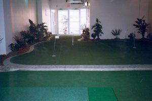 Indoor putting greens too!