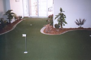 Finished putting green with EuroStyle borders.